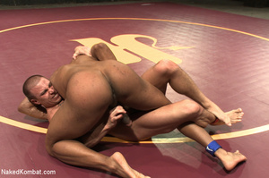 Horny dude and tattooed friend wrestle g - XXX Dessert - Picture 5