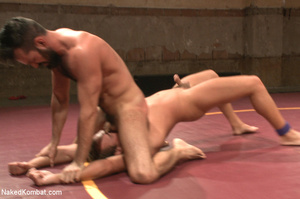 Hairy dude wrestle with cute stud as the - XXX Dessert - Picture 2