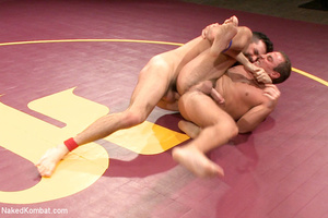 Hairy dude wrestle with cute stud as the - XXX Dessert - Picture 6
