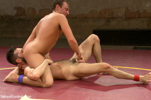 Hairy dude wrestle with cute stud as the - XXX Dessert - Picture 7