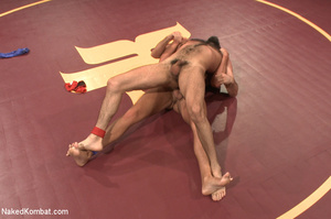 Hairy dude wrestle with cute stud as the - XXX Dessert - Picture 8