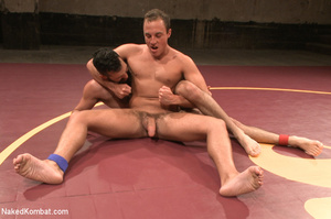 Hairy dude wrestle with cute stud as the - XXX Dessert - Picture 9