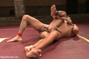 Hairy dude wrestle with cute stud as the - XXX Dessert - Picture 11
