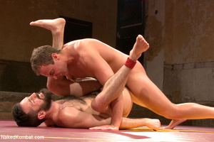 Hairy dude wrestle with cute stud as the - XXX Dessert - Picture 13