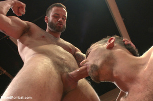 Tattooed guy battles with friend as they - XXX Dessert - Picture 8