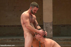 Tattooed guy battles with friend as they - XXX Dessert - Picture 9