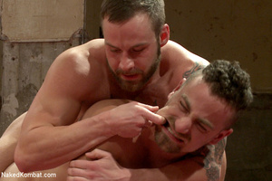 Tattooed guy battles with friend as they - XXX Dessert - Picture 10