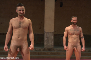 Tattooed guy battles with friend as they - XXX Dessert - Picture 15