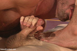 People watch as four hot studs wrestle a - XXX Dessert - Picture 14
