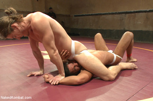 Sexy battle as two male studs fight and  - XXX Dessert - Picture 1