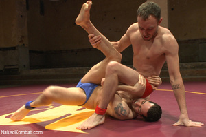 Well built guys wrestle and strip each o - XXX Dessert - Picture 2