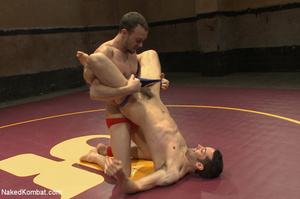 Well built guys wrestle and strip each o - XXX Dessert - Picture 3