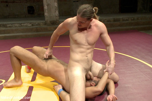 Sexy battle as two male studs fight and  - XXX Dessert - Picture 8