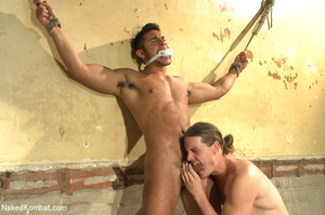 Sexy battle as two male studs fight and  - XXX Dessert - Picture 12