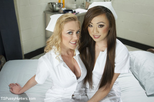 Two cute bored nurses take a break to su - XXX Dessert - Picture 1