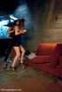 Hot sofa action as chick sucks cock and tranny fucks her cunt and spill