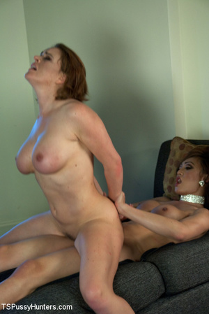 Tranny in blue pounds cute babe's pussy  - XXX Dessert - Picture 9