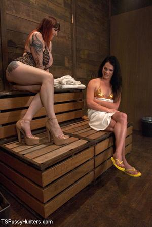 Hot big tits tattooed babes ride stiff t - XXX Dessert - Picture 1