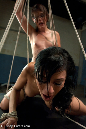 Cute girl tied with rope gets licked and - XXX Dessert - Picture 2