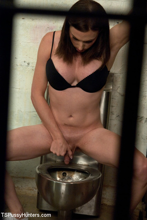 Tranny shows chick her cock in jail and  - XXX Dessert - Picture 2