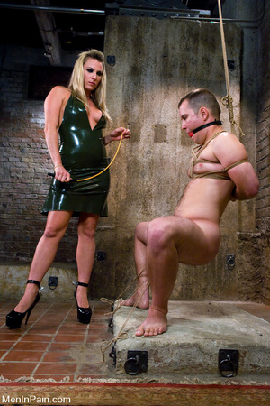 Busty blonde mistress in black late dres - XXX Dessert - Picture 1