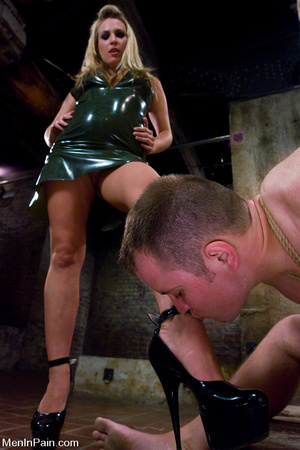 Busty blonde mistress in black late dres - XXX Dessert - Picture 4