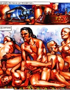 Awesome group fucking scenes from dirty drawn porn