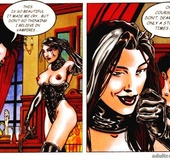 Absolutely crazy fucking at vampires' party in a cool porn comics