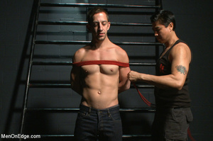 Guy ties and gags hot guy as he sucks hi - XXX Dessert - Picture 1