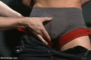 Guy ties and gags hot guy as he sucks hi - XXX Dessert - Picture 2