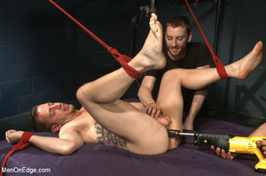 Guy ties and gags hot guy as he sucks hi - XXX Dessert - Picture 5