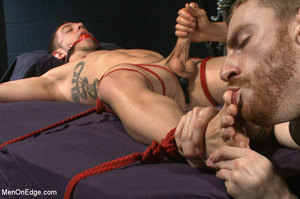 Guy ties and gags hot guy as he sucks hi - XXX Dessert - Picture 7