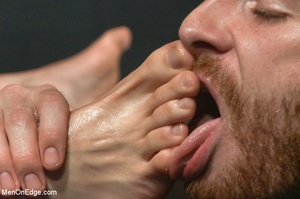 Guy ties and gags hot guy as he sucks hi - XXX Dessert - Picture 9