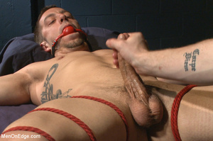 Guy ties and gags hot guy as he sucks hi - XXX Dessert - Picture 11