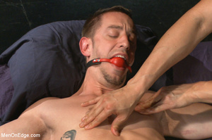 Guy ties and gags hot guy as he sucks hi - XXX Dessert - Picture 12
