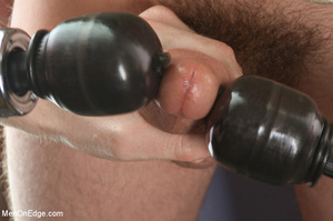 Guys tied up young dude and use vibrator - XXX Dessert - Picture 2