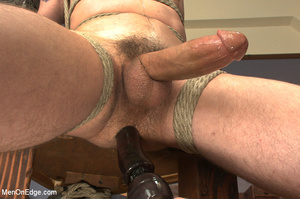 Guys tied up young dude and use vibrator - XXX Dessert - Picture 9