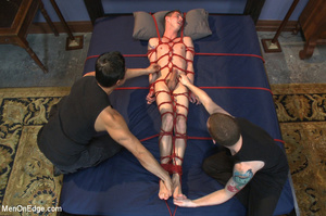 Guys tied up young dude and use vibrator - XXX Dessert - Picture 13
