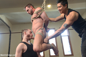 Guy roped to chair and suspended gets hi - XXX Dessert - Picture 7