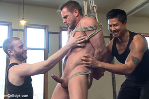 Guy roped to chair and suspended gets hi - XXX Dessert - Picture 11