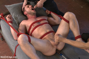Guy roped to chair and suspended gets hi - XXX Dessert - Picture 12