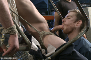 Tattooed guy strapped down to get his co - XXX Dessert - Picture 2