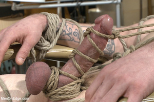 Tattooed guy strapped down to get his co - XXX Dessert - Picture 7