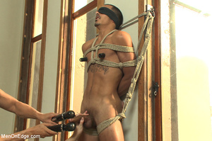 Roped guy sucks dick and gets blowjob be - XXX Dessert - Picture 10