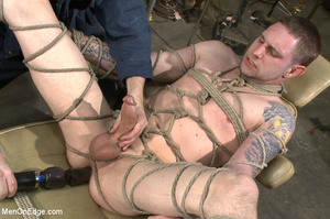 Tattooed guy strapped down to get his co - XXX Dessert - Picture 10