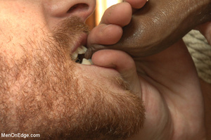 Roped guy sucks dick and gets blowjob be - XXX Dessert - Picture 14