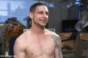Tattooed guy strapped down to get his co - XXX Dessert - Picture 15