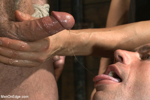 Muscled guy tied gets to suck cock as he - XXX Dessert - Picture 6