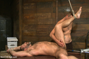 Muscled guy tied gets to suck cock as he - XXX Dessert - Picture 10