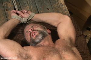 Muscled guy tied gets to suck cock as he - XXX Dessert - Picture 11